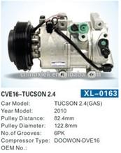 12v aircon 12v car compressorfor HCC-RS18 TUCSON 2.4(GAS)auto air-conditioning compressor