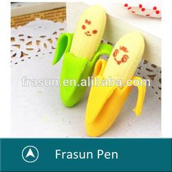 2014 cute fruit shape banana shape school supply eraser,cute eraser,fruit and vegetable shape eraser,
