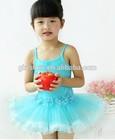 New Arrival Kids Wear Beautiful Model Ballet Dresses Boutique Sexy Blue Ballet Tutu Dresses