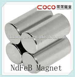N35/N38/N40/N42/N45/N48/N50/N52 cylinder neodymium monopole magnet with rohs