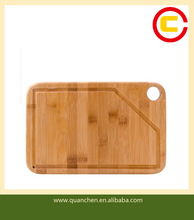Bamboo cutting board with sink square