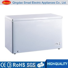 Stainless steel top open big capacity chest freezer for sale