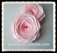 wholesale handmade ribbon rose flower, fabric craft, frame decoration