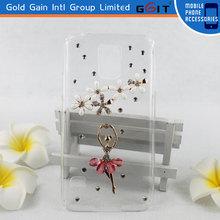 DIamond Dancing Girl Transparent TPU Case Cover S5 for Samsung i9600