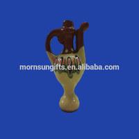 antique folk glazed ceramic pitcher jug Figurine whistle ocarina