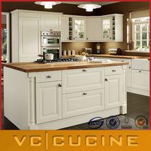 Wholesale white PVC diy kitchen cabinet