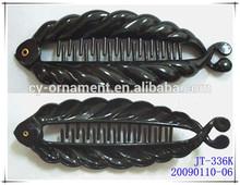 2014 Cheap price twin fish hair clip plastic hair combs