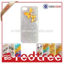 crystal glitter plastic diamond phone case for iphone5