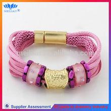 Handcraft gold magnetic bracelet fashion metal charms for paracord bracelets