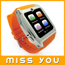 Hot sale business style mobile watch phone price list ,connect with Android smart device