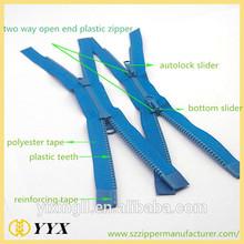 Clear plastic zipper fashion plastic zipper for bag and garments