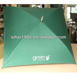 Special shaped square golf umbrella 4 ribs