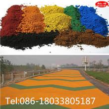 iron oxide colored asphalt
