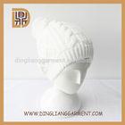 100 acrylic custom cheap plain pompom wholesale knitted winter hats beanie