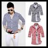 New product cotton stripe fancy design men shirt on sale