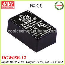Meanwell DCW08B-12 18v to 12v -12v dc converter 8w
