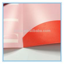 Office stationery colored plastic pockets file folder