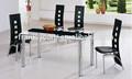 Aço inoxidável mesa de jantar conjunto/restaurante mesas de jantar e cadeiras