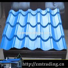 glazed zinc blue color roof tiles prices