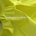 amarelo brilhante planície de poliéster tingidos tecido de algodão