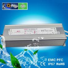 PFC EMC 12V 24V 36V 48V ip67 waterproof 200w led power supply switching