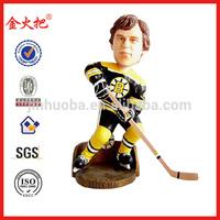 Custom polyresin hockey player bobble head