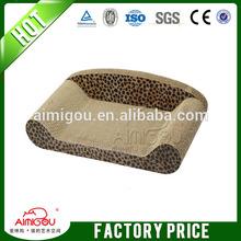 Made in china wholesale corrugated cardboard scratcher cat toy mat
