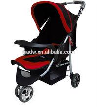 PASSED EN1888 certification three wheels Portable folding Baby stroller steel alloy 8.8KG export to EU good Shock absorber