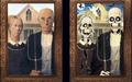 أفلام الرعب 3d عدسي الطباعة منزل لجميع القديسين الرعب