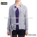 mujer delgada de punto suéter chaqueta de punto liso