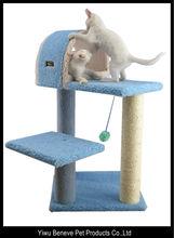 blue Multi Level Cat Activity Centre Sisal Kitten Tree Scratch
