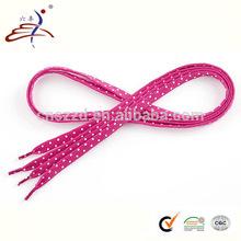Cute Pink Polka Dot Bulk Shoelaces for Children