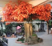 ภูมิทัศน์ผู้ผลิตhotsellห้างสรรพสินค้าเมเปิ้ลต้นไม้ประดิษฐ์ตกแต่งคอลัมน์