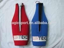 neoprene bottle cooler with zipper