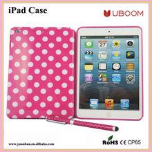 UBOOM smart cover for ipad mini/ TPU back cover case for ipad mini
