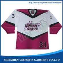 Custom sublimation 2014 new ice hockey apparel