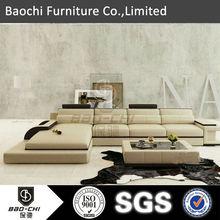 Modern leather sofa sofa l shape P3331