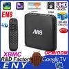 EM8 Android 4.4 Ultra HD 2K4K Bluetooth XBMC 2GB/8GB Quad Core TV Box 3d blu-ray hdd media player