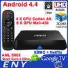 4K M8 EM8 Android 4.4 TV Box with Amlogic S802 XBMC 13.0 ultra hd 4k 3d blu-ray player