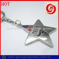 Customized zinc alloy TEXAS metal key chain all star keychain