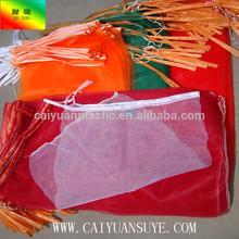 caiyuan top sale cheap PE circular mesh bag for packing onion potato lemon pomelo