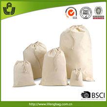 2014 wholesale promotional organic cotton muslin bags