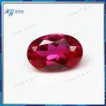 Fornecimento de pedra de rubi sintético preços por quilate glamour 5*7mm corte oval cor de sangue natural rough ruby gemstone