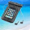 high quality hot sale pvc waterproof mobile phone bag with earphone