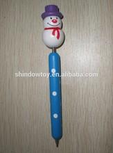 Christmas Wooden cartoon Ball Pen
