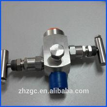 China 2 way manifold high pressure stainless steel valve manifold