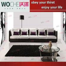 Sofá de metal encostos de cabeça dois sofá assento 2013 new design mobiliário WQ8907
