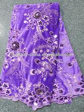 2014 african charming applique velvet lace fabrics