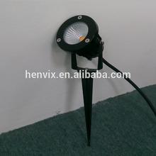 warm white IP65 COB 3w high lumens solar led garden light