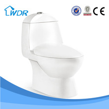 Elegant deaign hotel bathroom top quality sanitary one piece fancy toilet